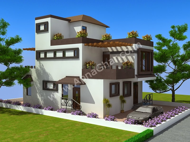 completed modern triplex house plan 228m2 (12m x 19m) sq ft | bill