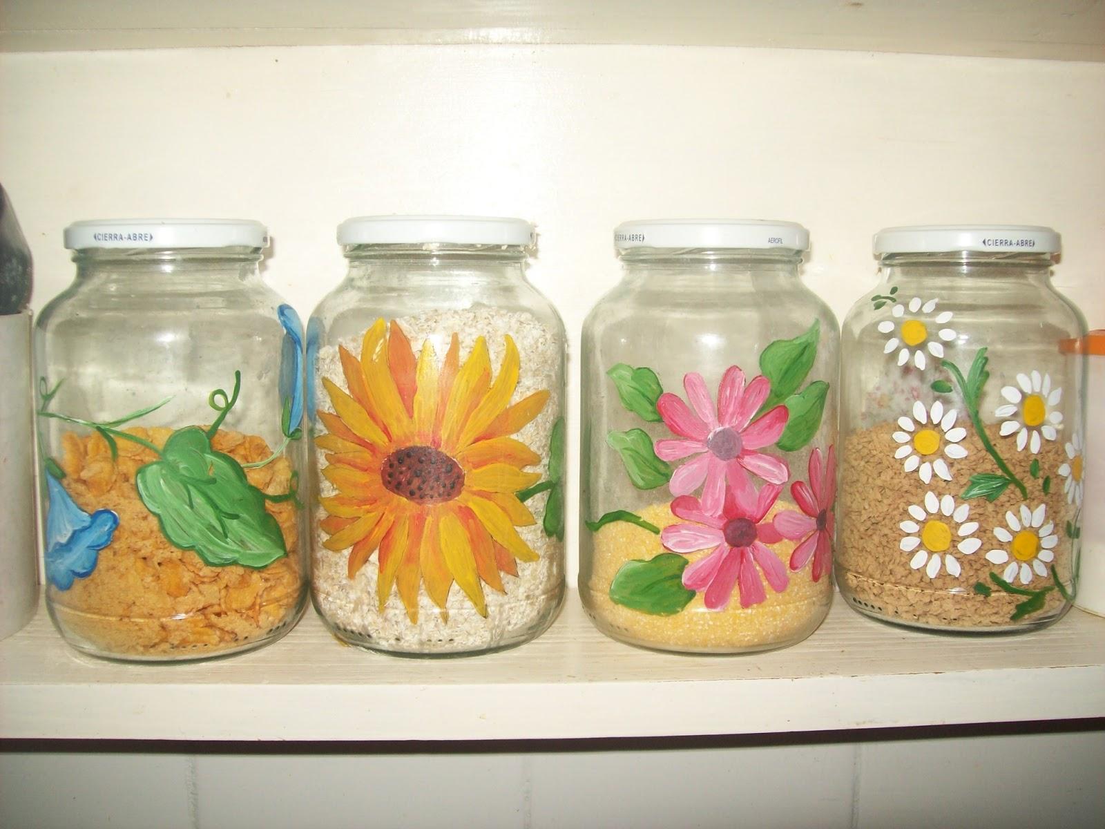 Reciclarte frascos decorados for Tarros de cocina baratos