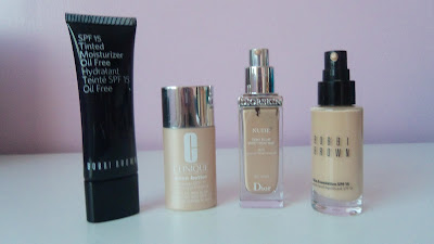 Bobbi Brown Oil Free Tinted Moisturizer, Clinique even better makeup, Dior nude skin glowing makeup, Bobbi Brown Skin foundation