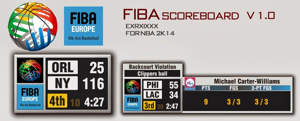 NBA 2K14 FIBA Scoreboard Mod