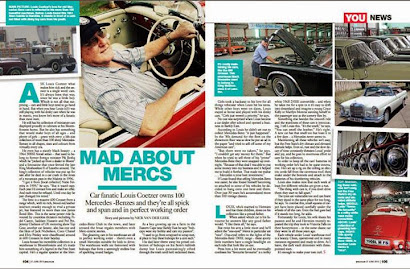 Interview with Louis Coetzer, Mercedes Benz classic car collector in YOU magazine, June 2013