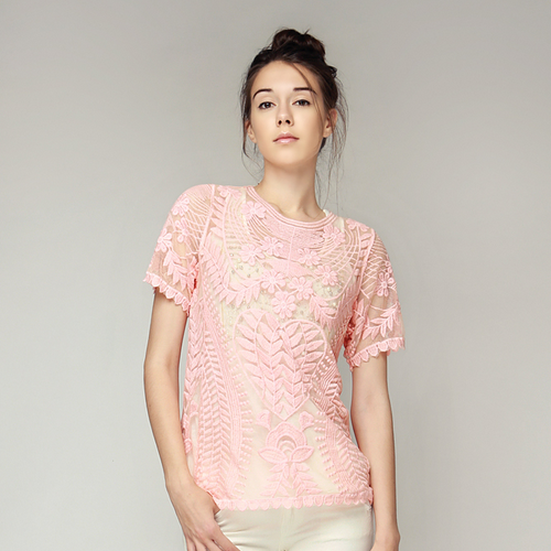 See-Thru Heart Lace Top