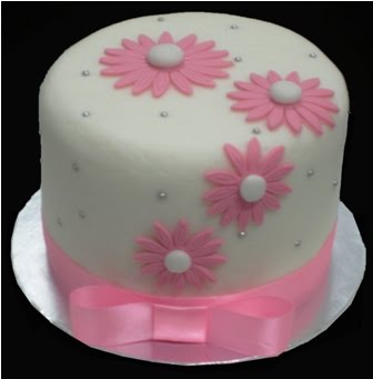 Simple Cake Designs With Fondant : FK House of Delights: Simple Pink Fondant Cake