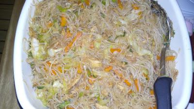 Home cooked Pancit Bihon Guisado