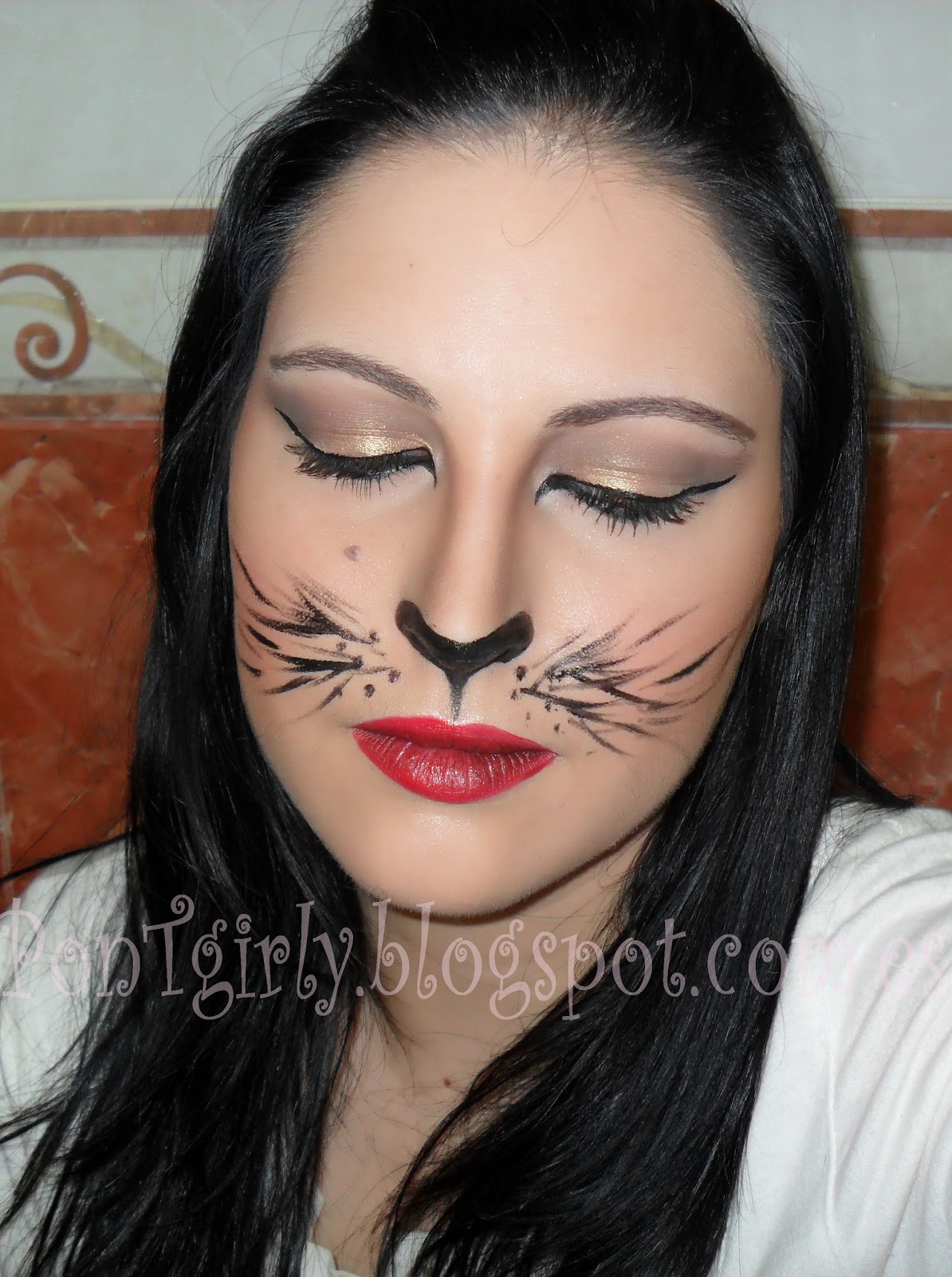 PonTgirly: Halloween: Cat Inspired Makeup