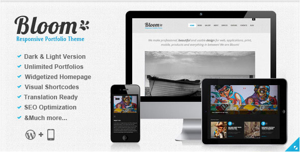Bloom WordPress Theme Free Download by ThemeForest.