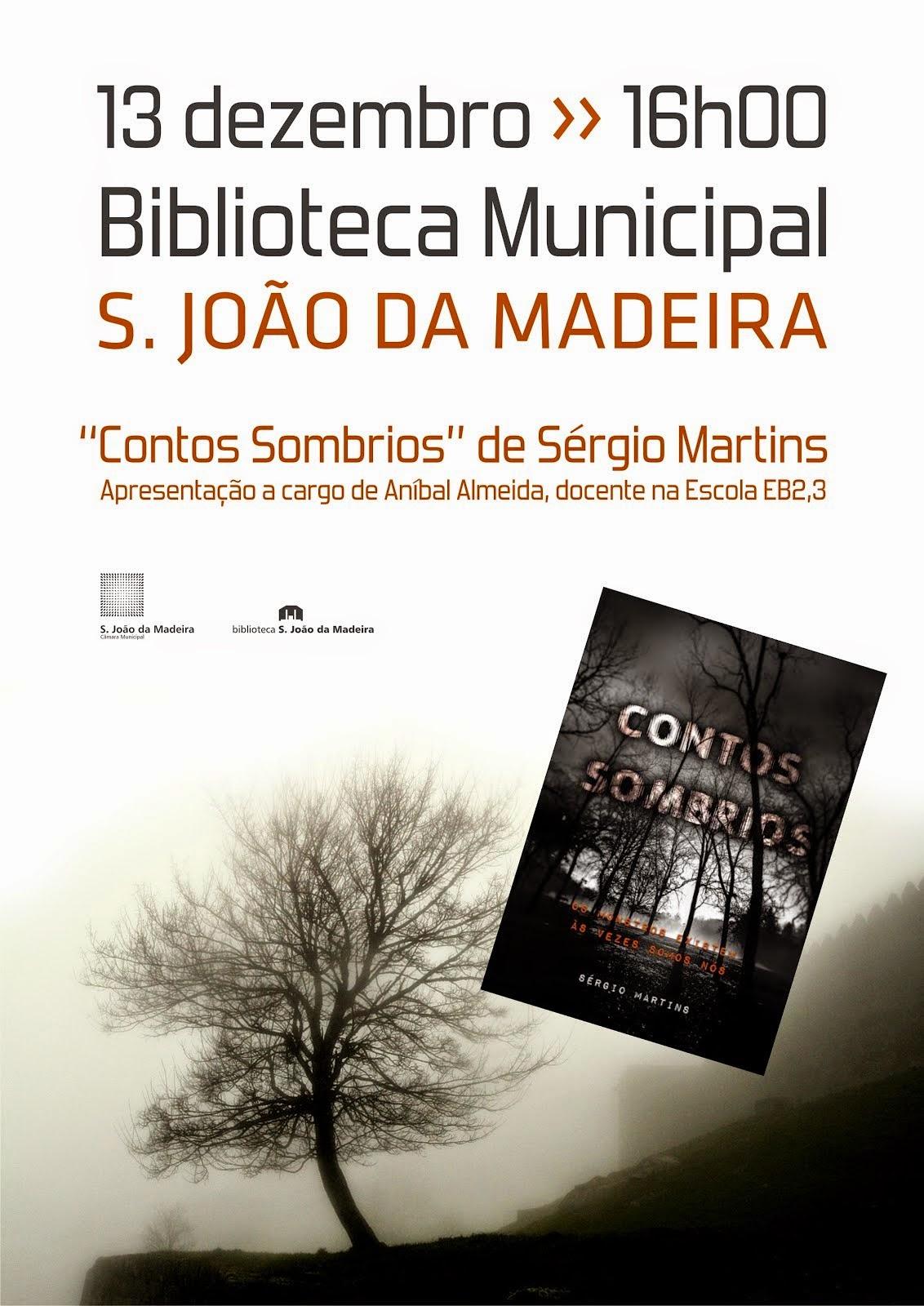 """Apresentação do livro """"Contos sombrios"""" de Sérgio Martins"""