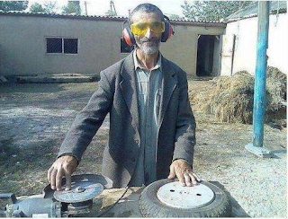 Funny picture DJ Grandpa