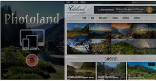 Photo land Blogger Template