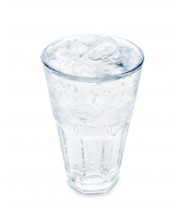 image of a glass full of water.