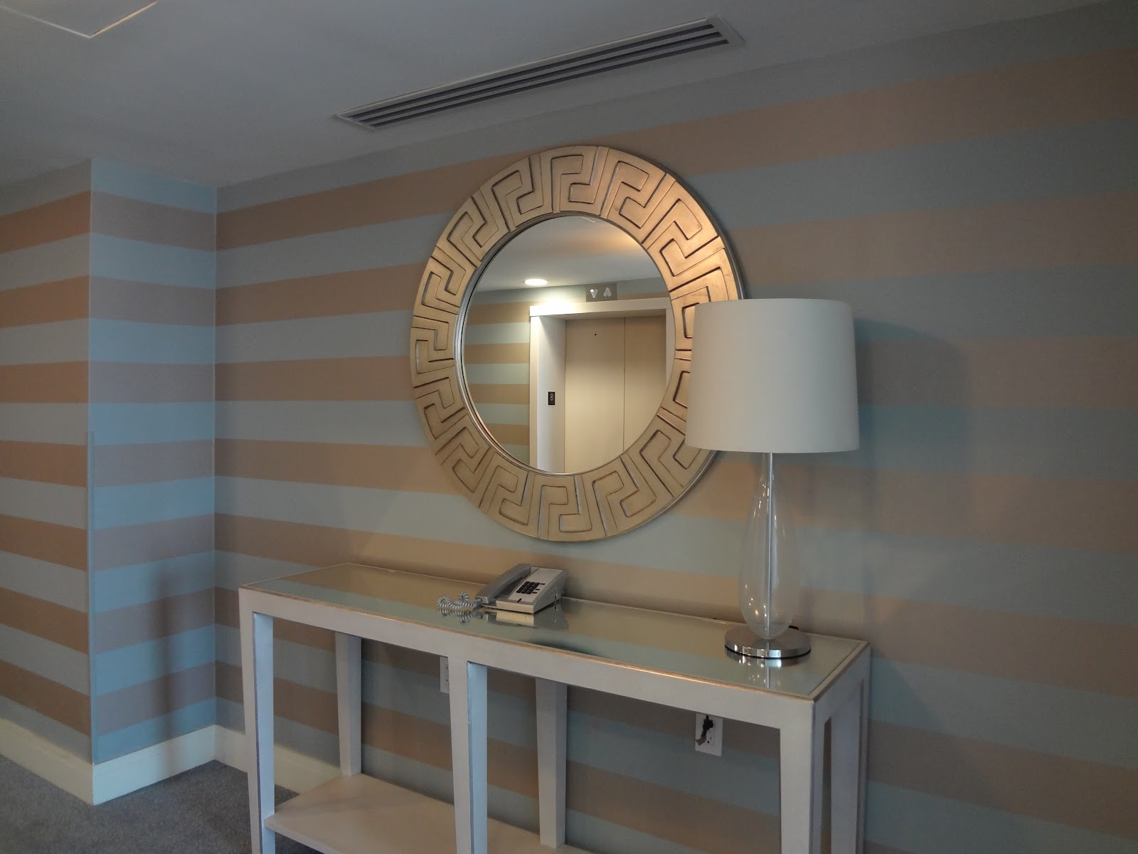Silver And White Striped Wallpaper