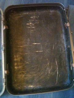 0bcd541f Vintage Suitcase   DIY Reupholstered Samsonite Suitcase with Cath Kidston Wallpaper