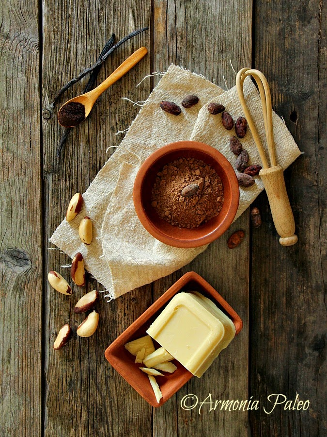 Cioccolato Fondente Homemade alle Noci dell'Amazzonia di Armonia Paleo