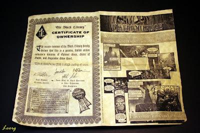 El certificado numerado del diorama de edición limitada de Ephrael Stern & Silas Hand