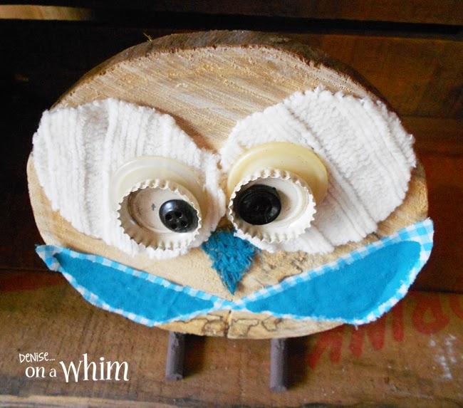 Log Slice Owl via Denise on a Whim
