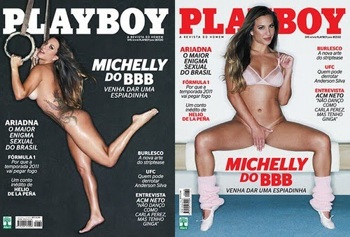 Bbb Veja As Capas De Michelly Na Playboy