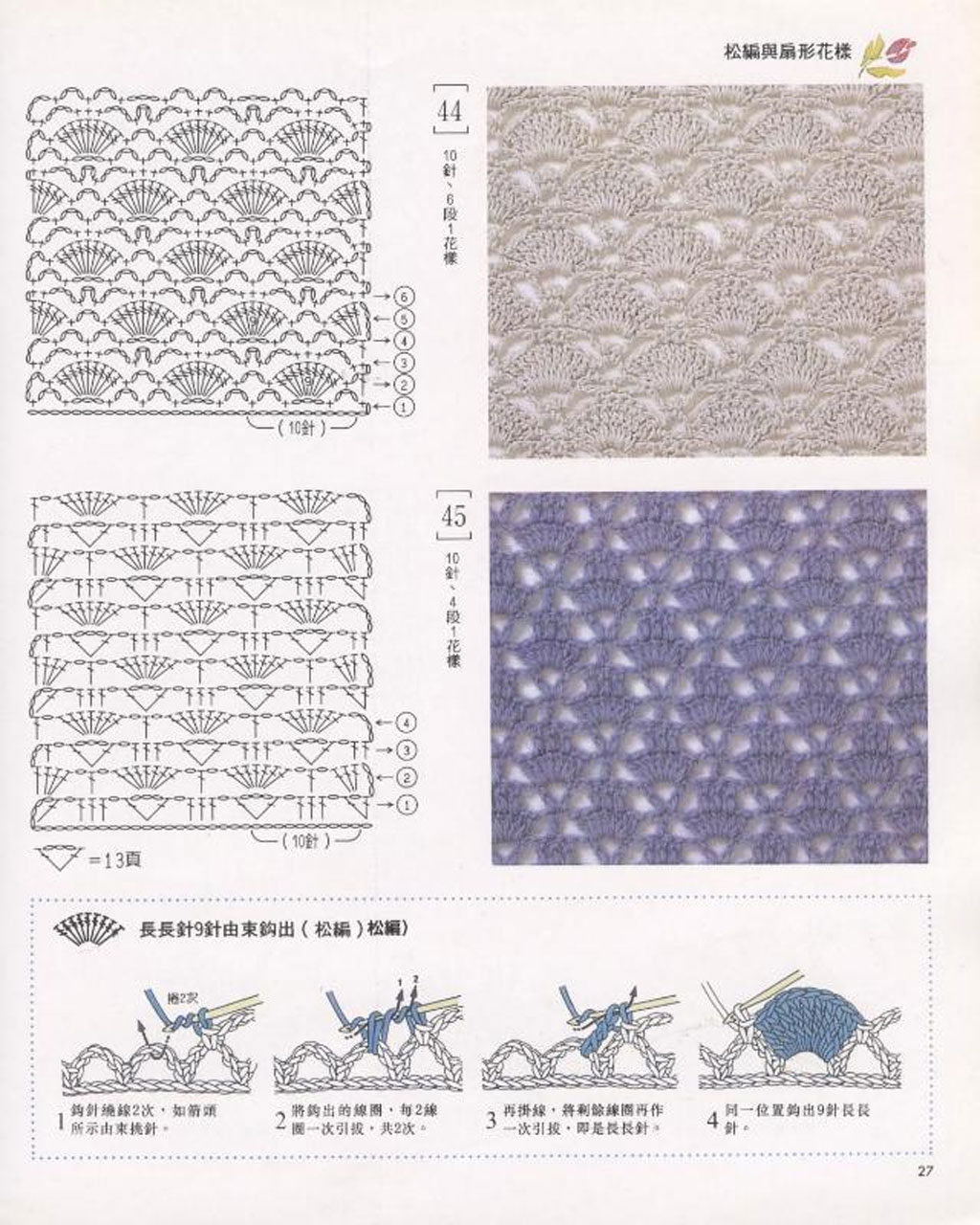 Ажурные узоры для вязания крючком схемы с описанием фото