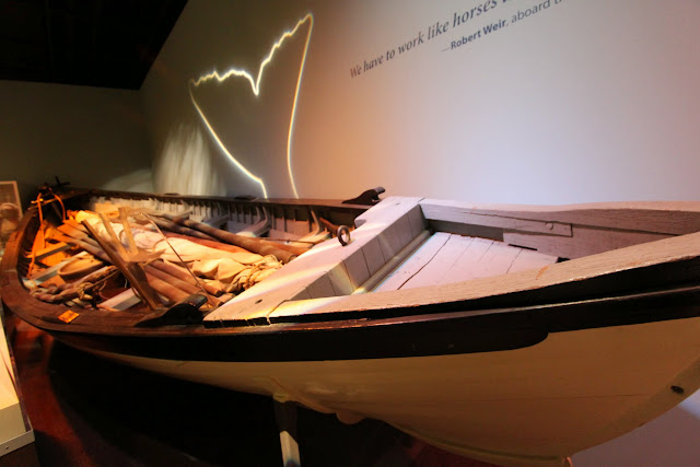 Wooden boat display at National Museum of American History in Washington DC, USA