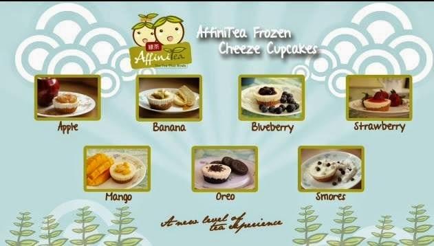 affinitea frozen cupcake flavor