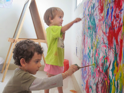 painting, murals, toddlerlife, homeschooling