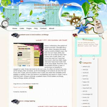 Indonesian Style of Love Blogger Template. free download template blogspot