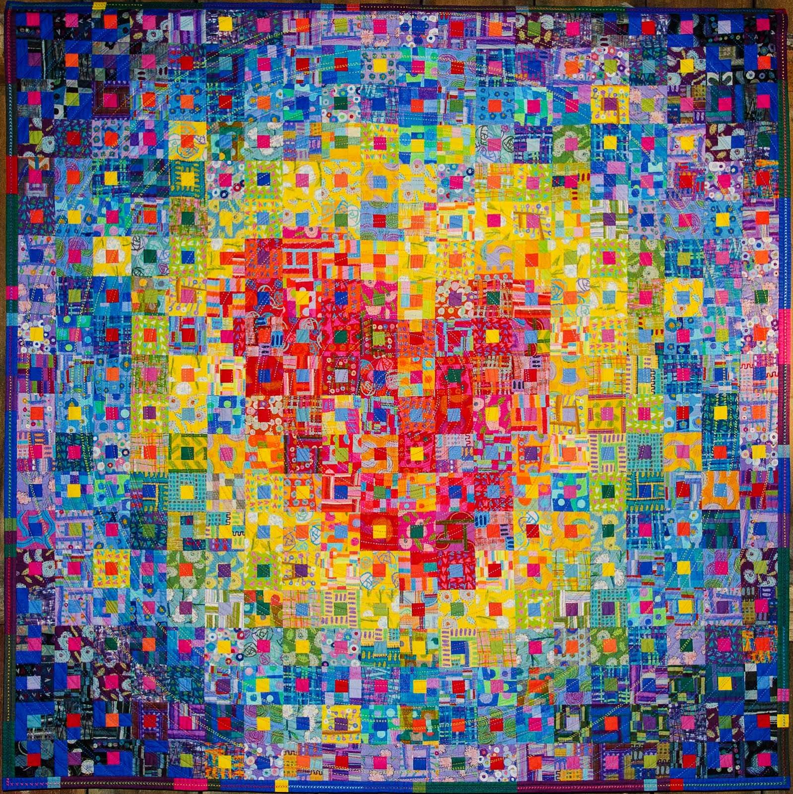 Nihon Japanese heart quilt by Kikuyo Miyashita