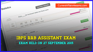 IBPS RRB Assistant Exam 2015