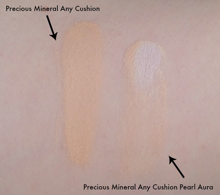 Precious Mineral Any Cushion W13 Natural Beige Pearl Aura Natural Aura Swatch Swatches