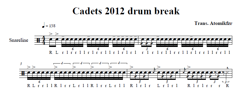 how to read snare music
