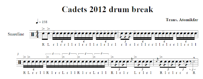 cadets sheet music
