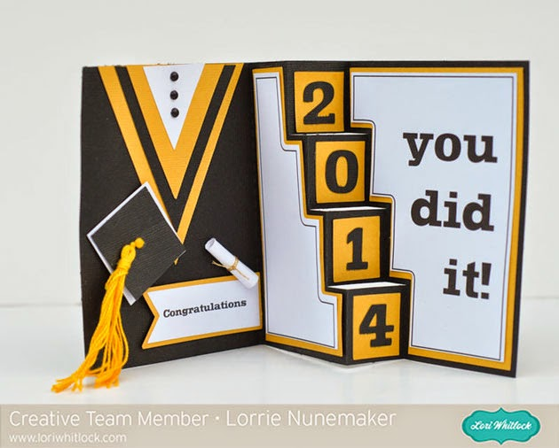 Congratulations Graduation Card 2014 Graduation Card Gown Tutorial