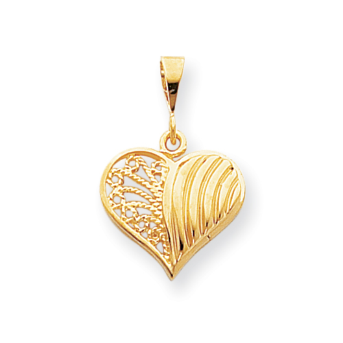 I love pendants gold heart pendant the symbol of love 10kyellowgoldheartcharmg aloadofball Image collections