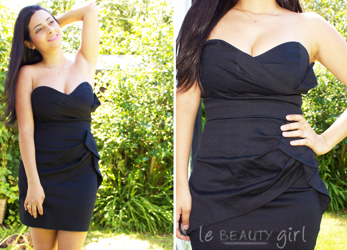 TFNC Sash Bandeau Dress