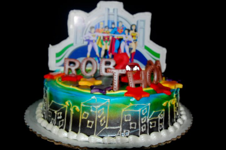 Cakes4you Super Friends Cake For Rob Thomas 2nd Birthday
