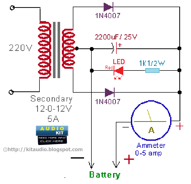 12 VOLT CAR BATTERY CHARGER CIRCUIT