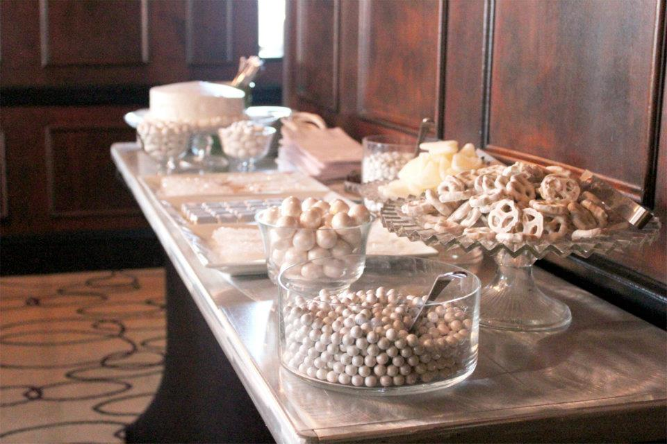 sweeteurs latest a minimalist white bridal shower candy buffet
