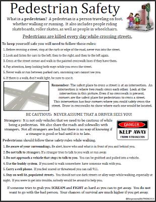 Pedestrian Safety Worksheets - Delibertad