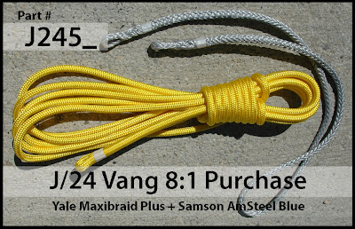 Annapolis Performance Sailing APS Rigging J24 Vang Yale Maxibraid Samson Amsteel Blue