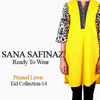 Sana Safinaz Ready To Wear Eid Collection 2014-Printed Lawn for Eid