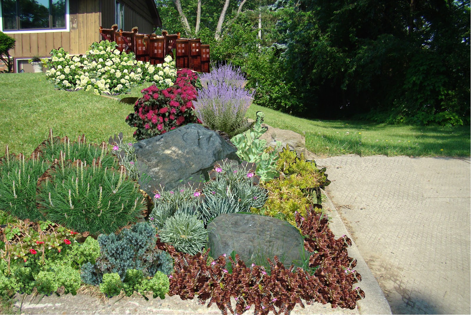 Easy rock garden ideas photograph renovate my ranch start for Simple rock garden designs