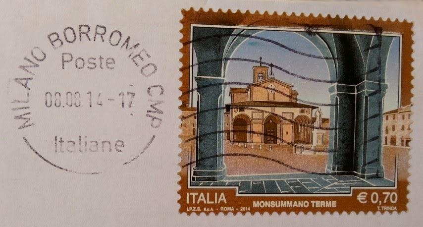 Francobollo dedicato a Monsummano Terme