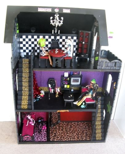 Домики для кукол монстер хай из коробки видео