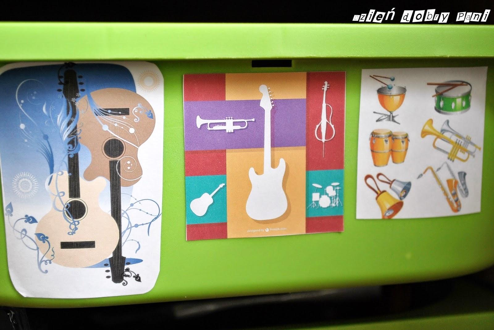 naklejki instrumenty muzyczne