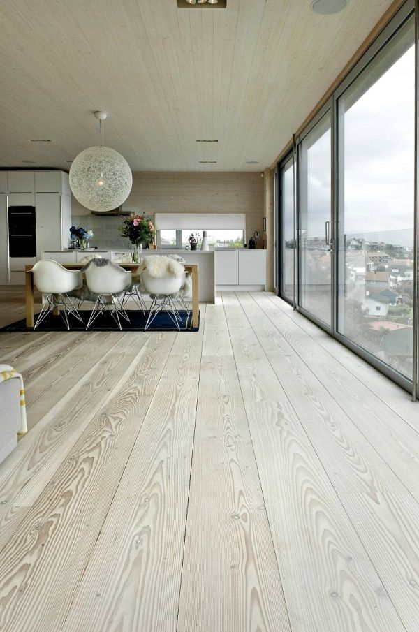 modern whitewashed floors
