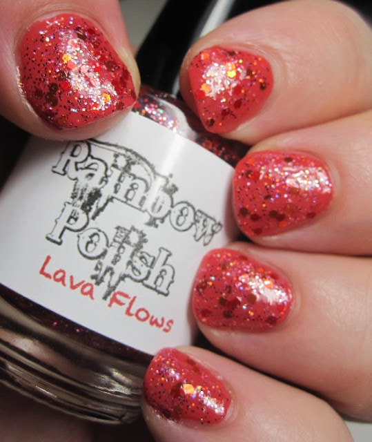 Julep Nan with Rainbow Polish Lava Flows