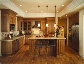 Contemporary wood kitchen cabinets style