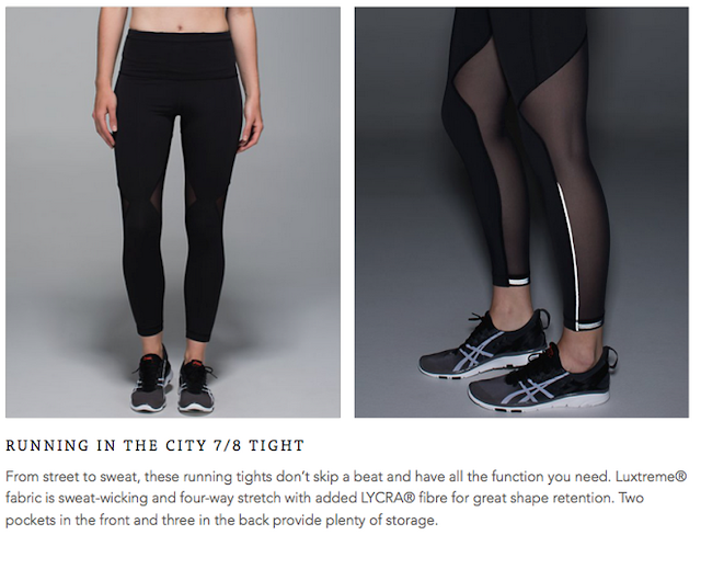 Lululemon Running In The City 7/8 Tight