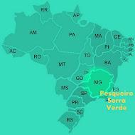 Localização do Pesqueiro Serra Verde