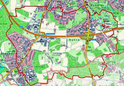 Evakuierungsgebiet - Bombenräumung Osnabrück 27. Oktober,Karte