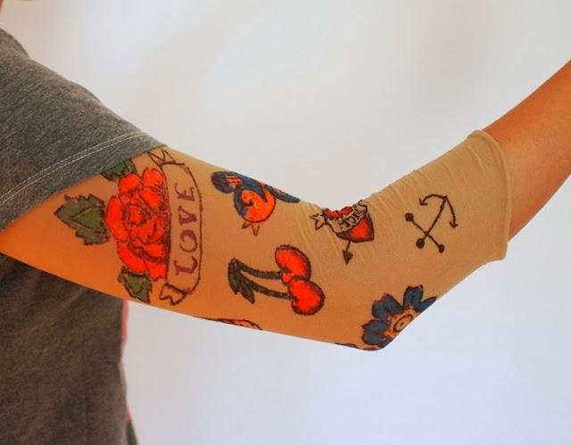 Reciclatex Cómo hacer unas mangas de tatuajes para Disfraz de Carnaval tattoo sleeves